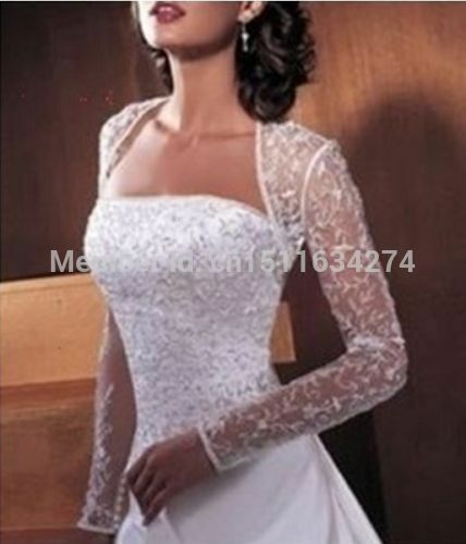 2015 bridal wedding lace bolero white ivory lace jacket for Wedding dress lace bolero
