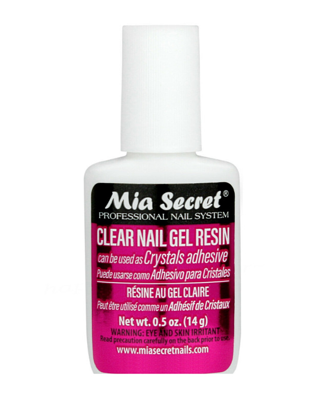 Best Glue For Stone : Mia secret brush on clear nail gel resin stone glue