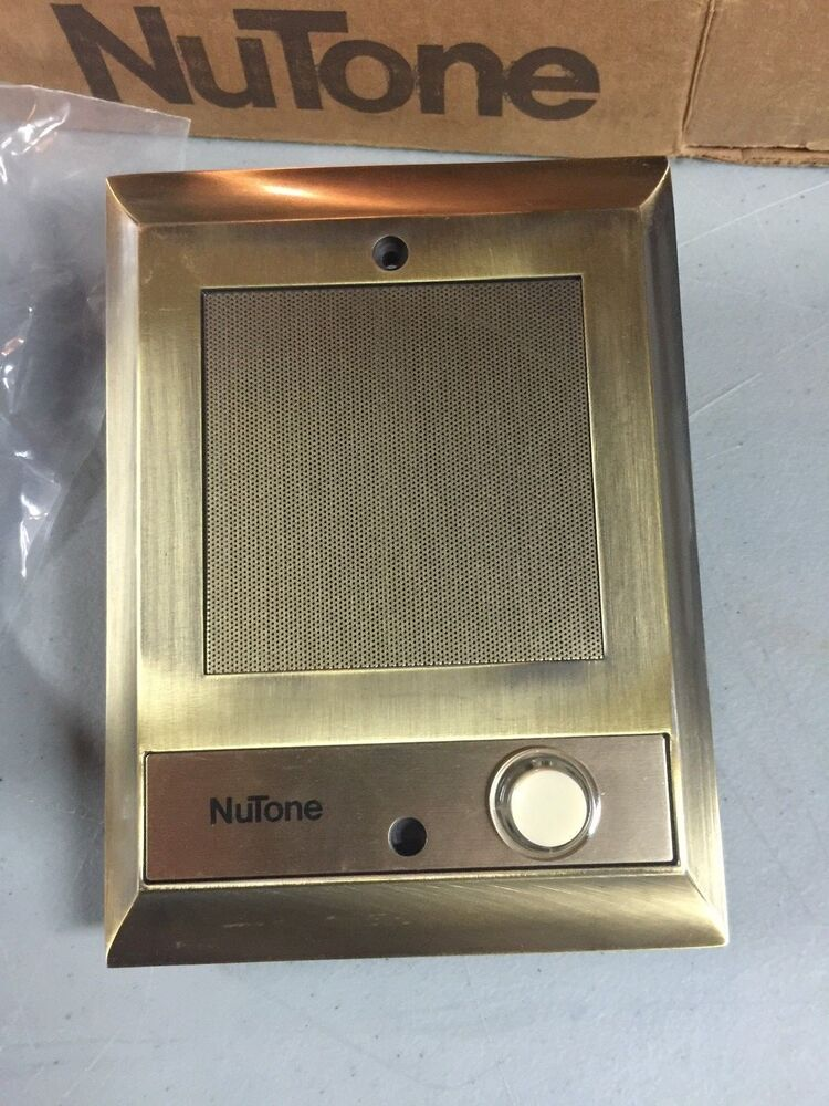 Nutone is 69ab intercom door speaker lighted pushbutton for Door intercom