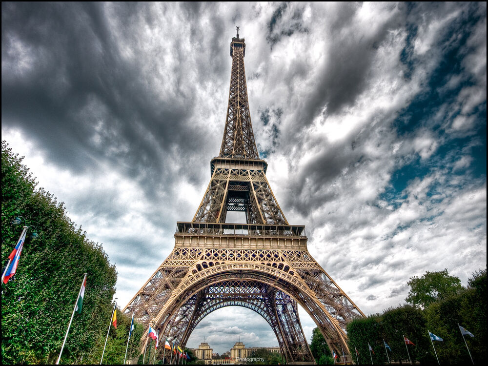 Paris eiffel tower home decor canvas print a4 size 210 x for Parigi wallpaper
