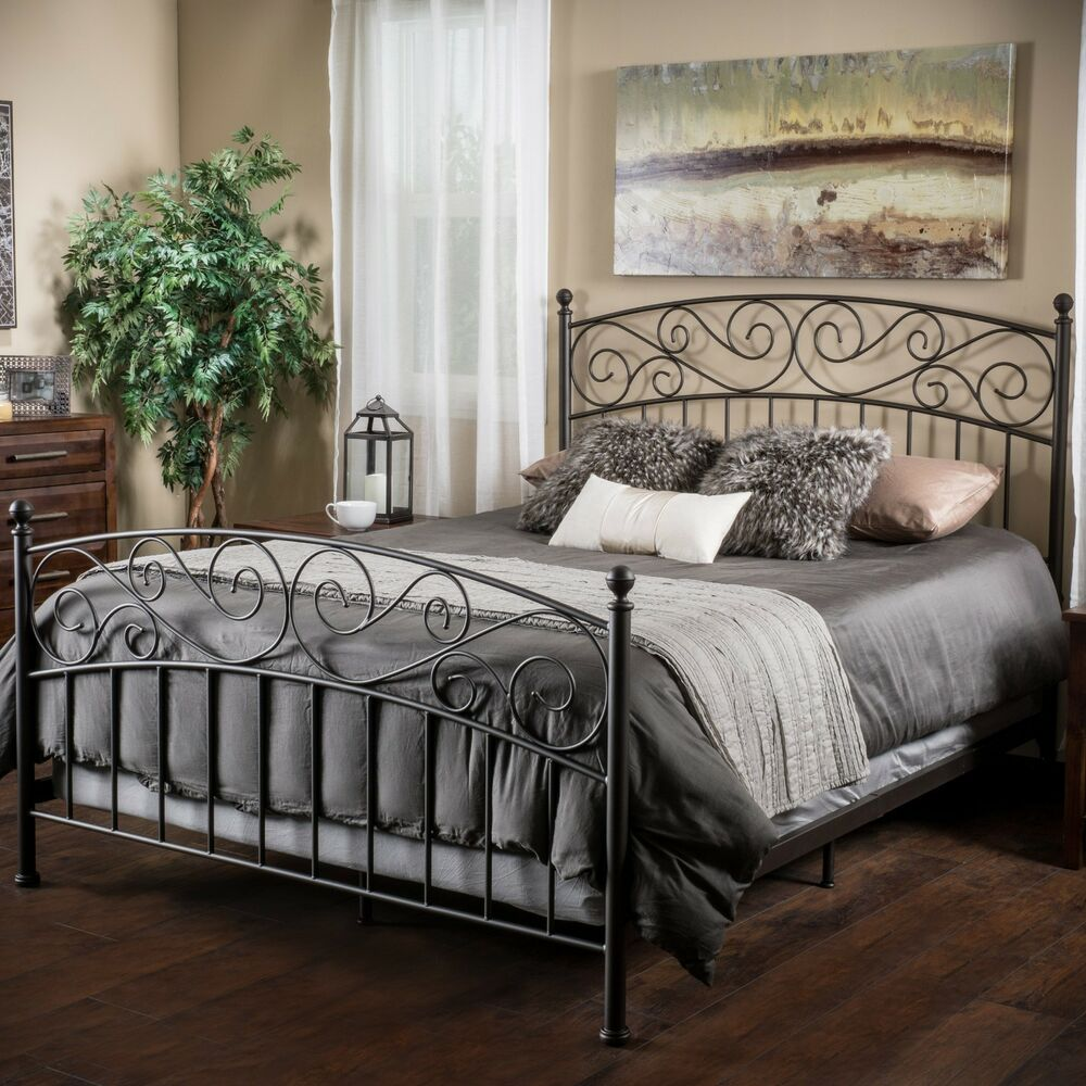 Bedroom Furniture King Size Iron Bed In Dark Bronze EBay