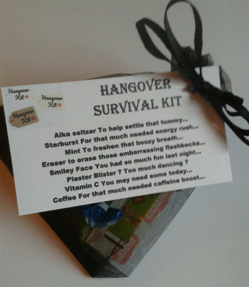 HANGOVER Survival Kit - Stag Hen Bride To Be Wedding Fun ...
