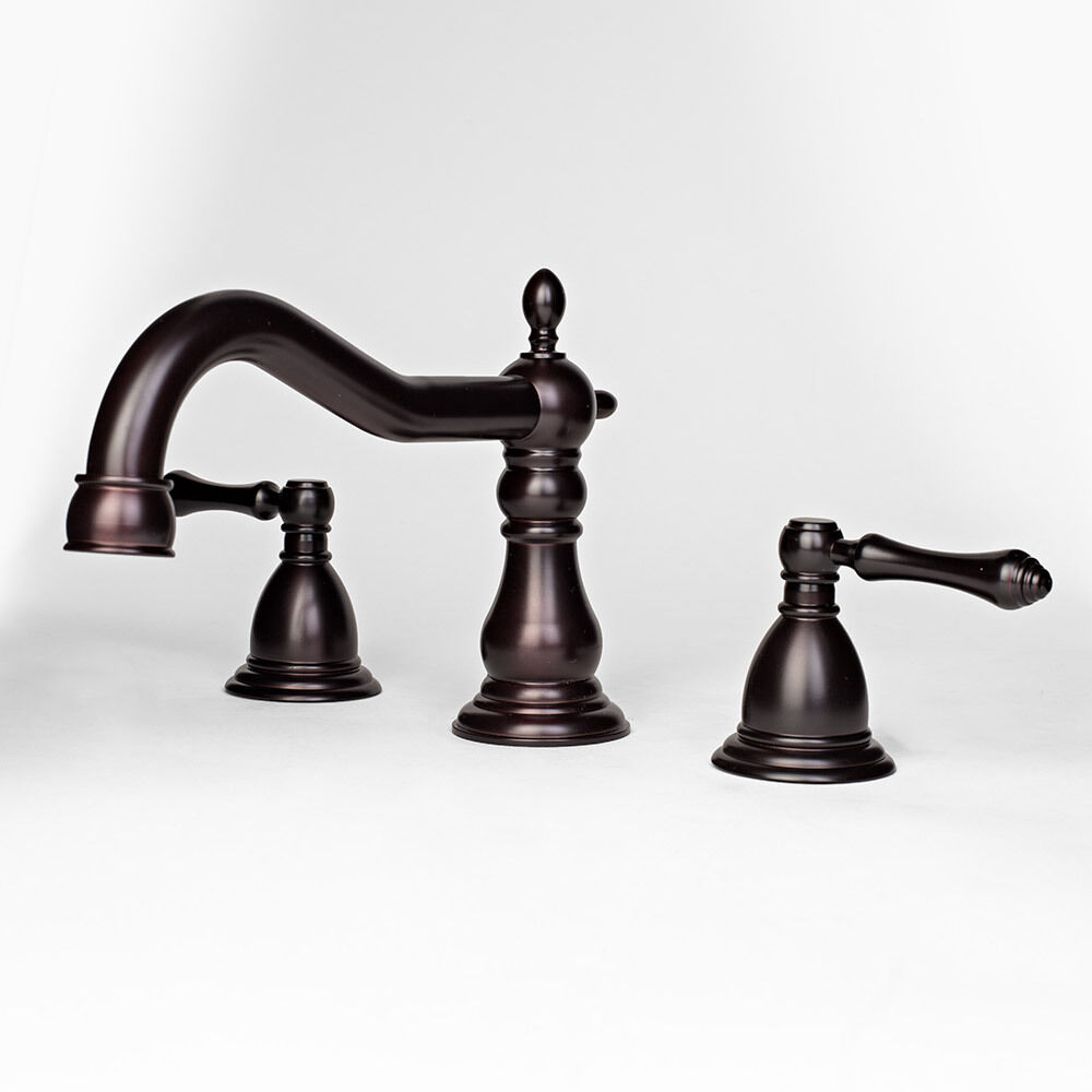 ... Oil Rubbed Bronze Widespread Bathroom Vanity Sink Faucet Lavatory