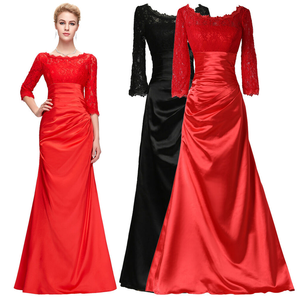 ... Long Evening Formal Wedding Bridesmaid Gown Prom Party Dress | eBay
