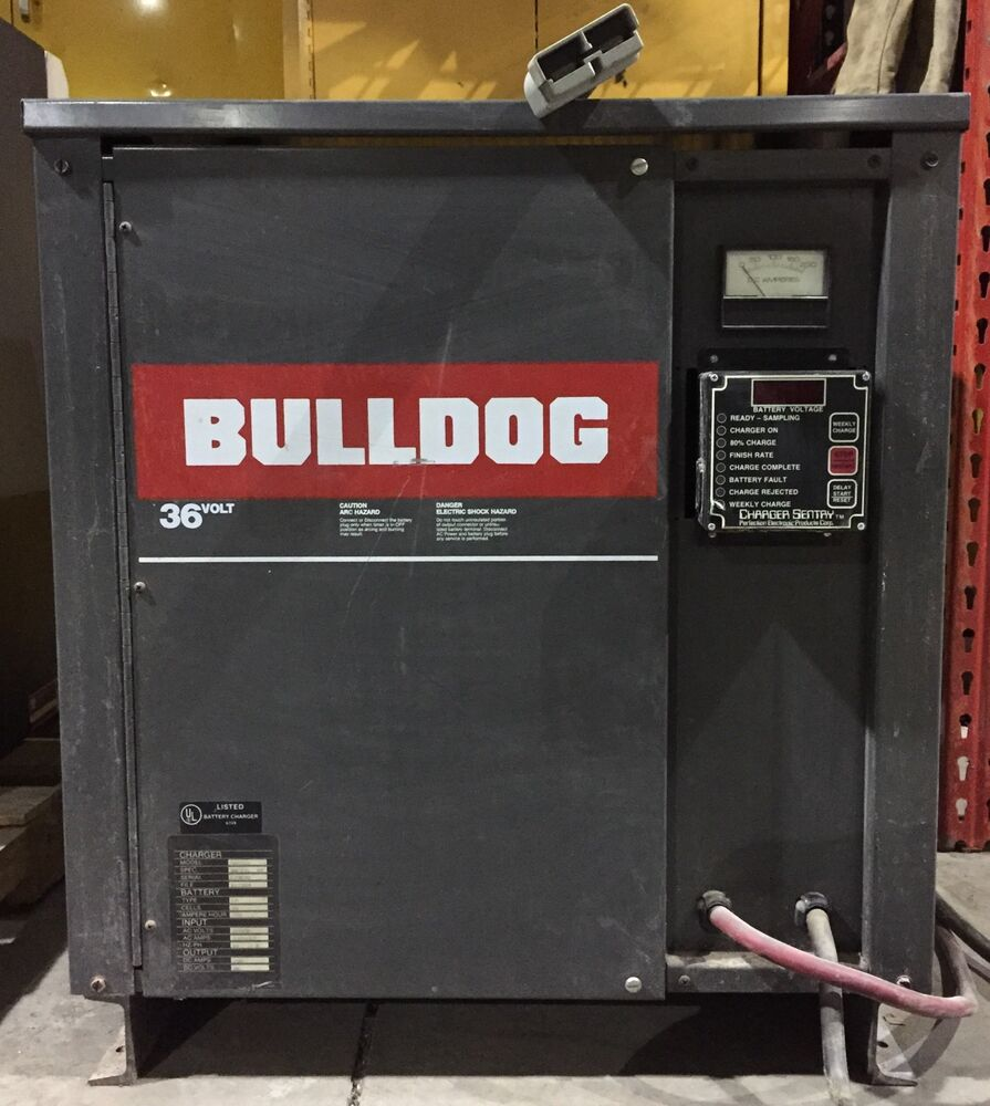 bulldog batteries bulldog 36v battery charger 18 cell 725 amp hours ebay 846