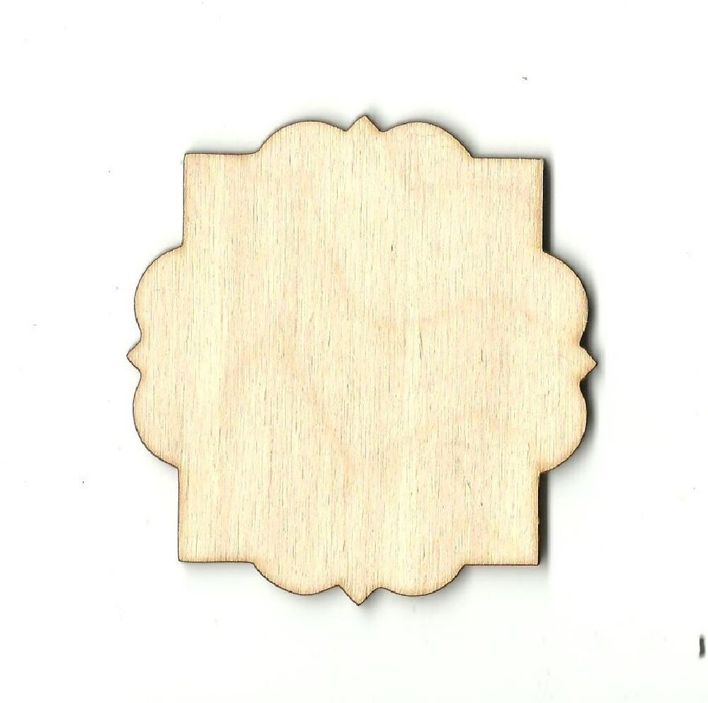 Decorative plaque unfinished wood craft supply laser cut for Wood plaques for crafts