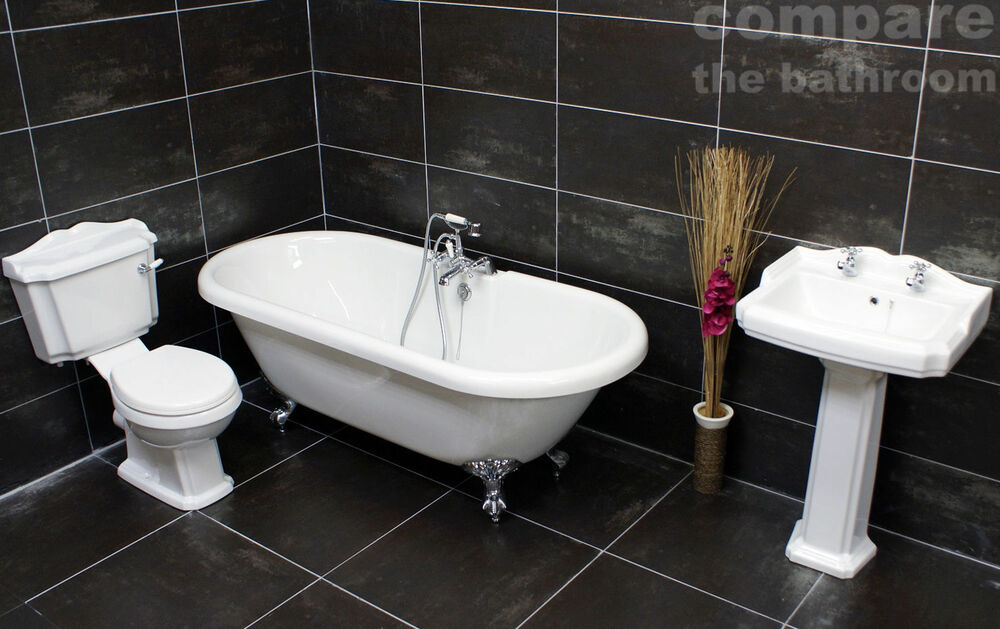Traditional Roll Top Bath: Traditional Classic Victorian Roll Top Freestanding