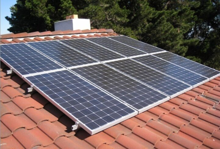 Solar panel mounting system for spanish tile roof for 6 for Spanish tile roofs