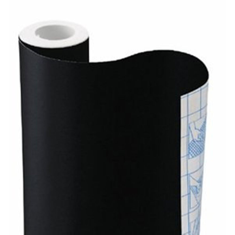 9 X 18 Quot Solid Black Or White Self Adhesive Contact Wall