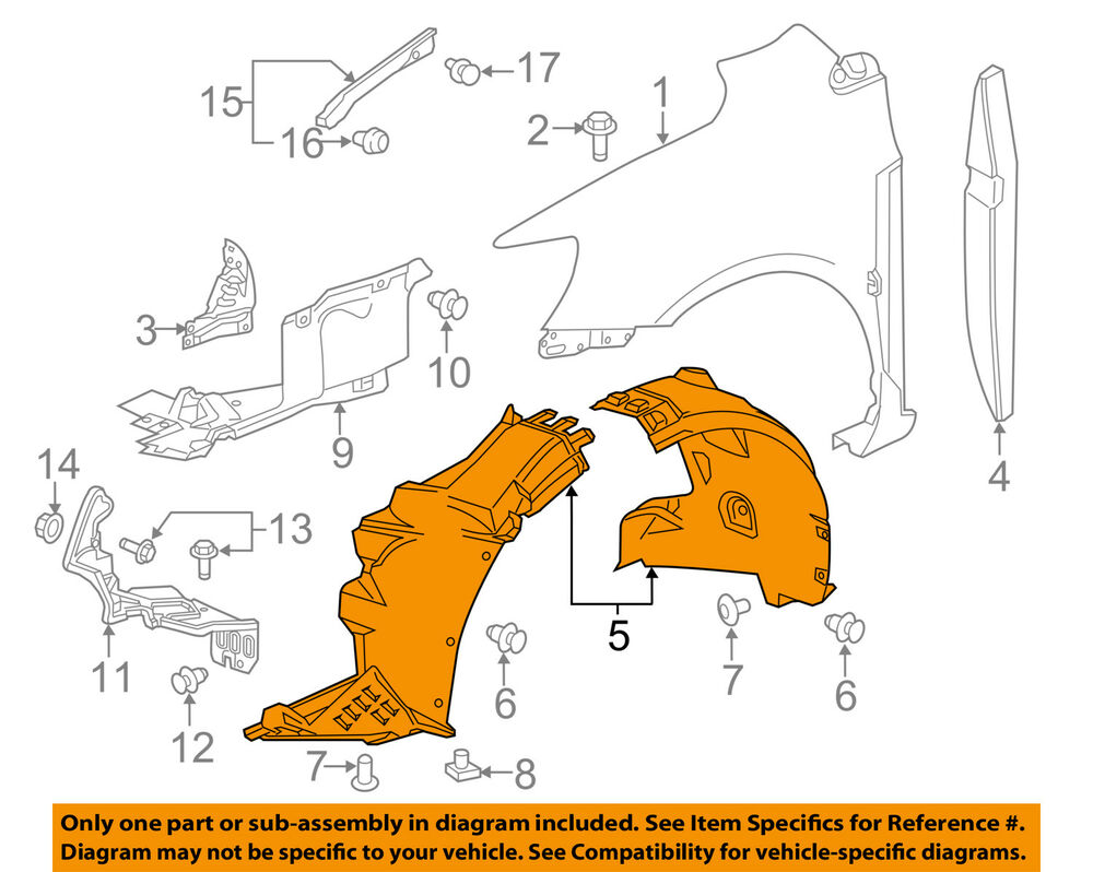 Chevrolet Sonic Repair Manual: Front Wheelhouse Liner Replacement (Rear)