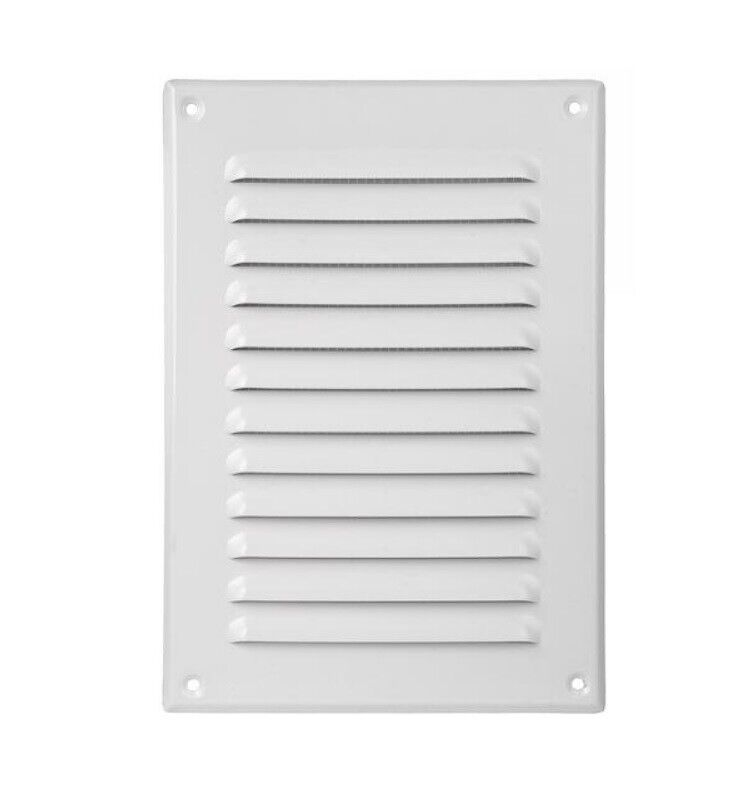 Air vent grille 165mm x 240mm 6 5 x 9 5 metal ventilation cover chrome white ebay - Grille ventilation hygroreglable ...