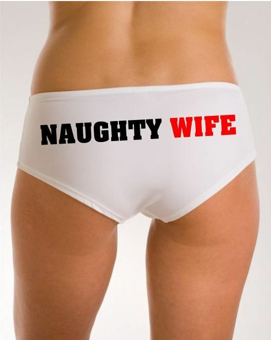 Personalised Womens Knickers Funny Novelty Naughty Wife ...