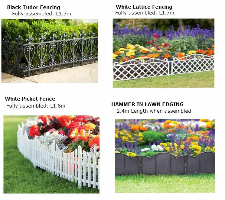 Plastic garden lawn edging fencing lattice picket tudor Tudor style fence