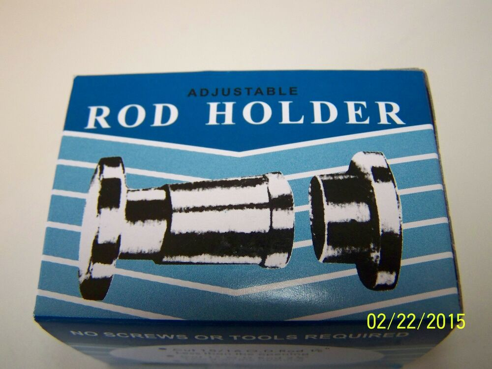 adjustable shower curtain rod holder fits 15 16 1 od no screws needed 82647650015 ebay. Black Bedroom Furniture Sets. Home Design Ideas