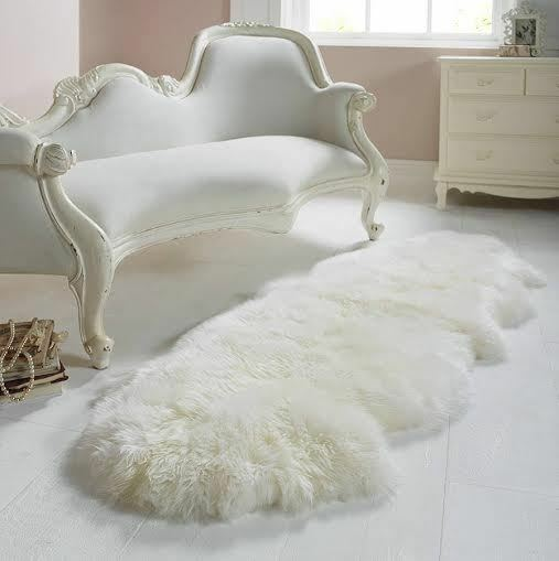 Genuine Sheepskin Rug Double Pelt White 2 X 6 By Artic