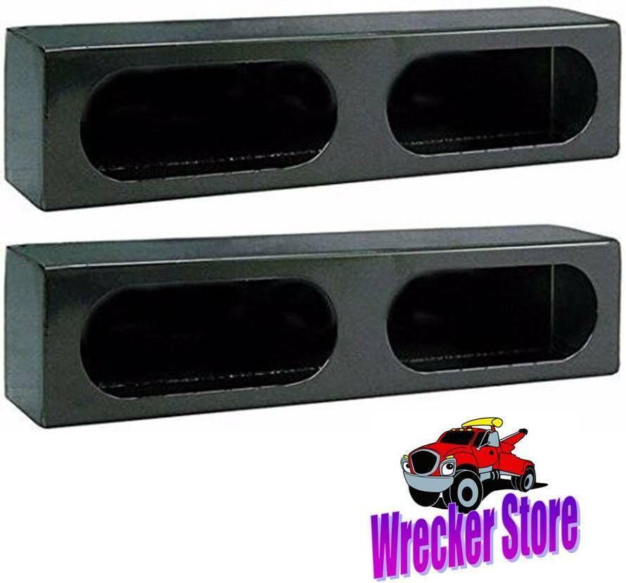 Set Of 2 Double Oval Steel Tail Light Box For Wrecker