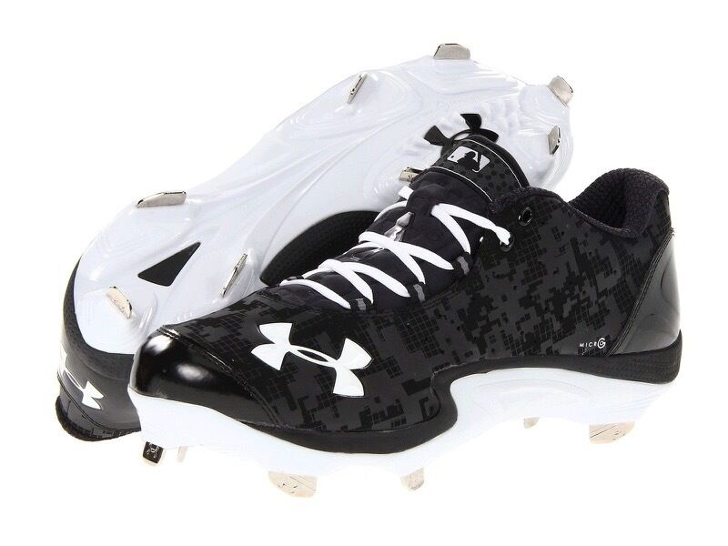 Men S Under Armour Natural Low St Baseball Cleats Black