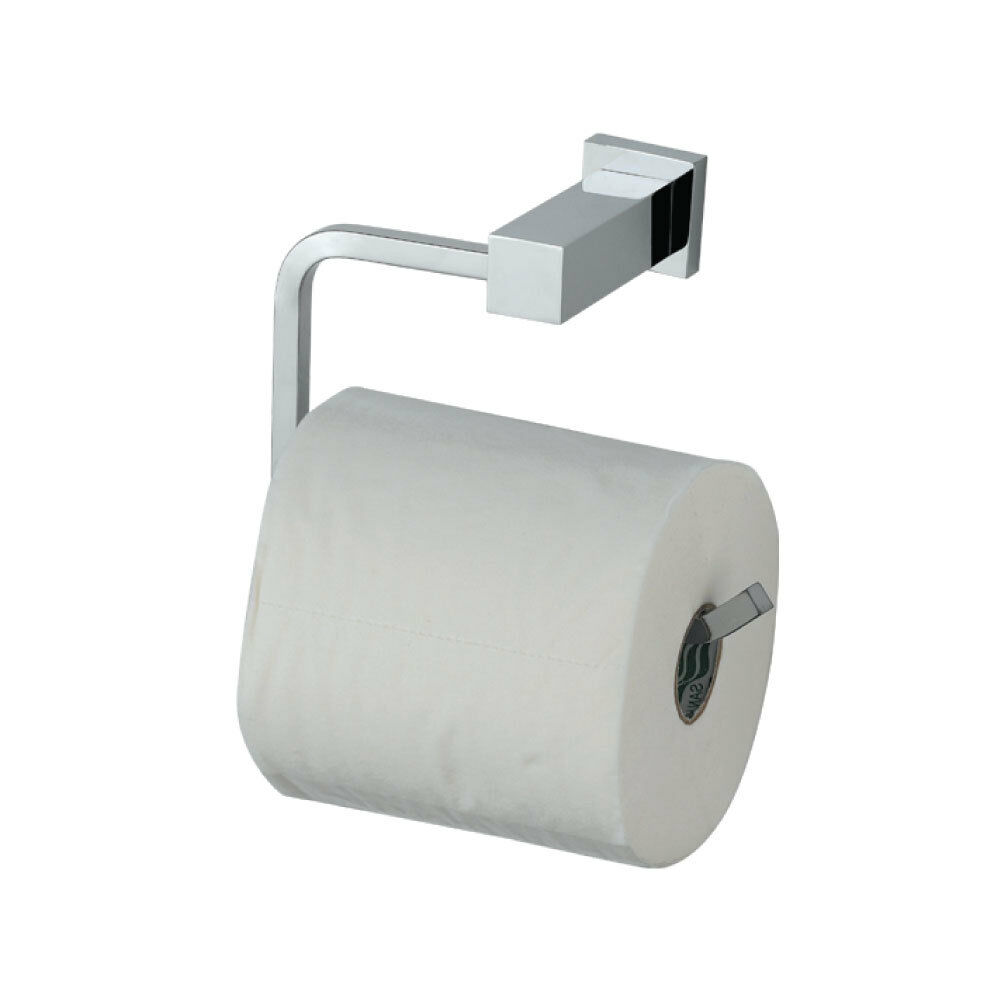 astril modern designer bathroom chrome toilet roll holder