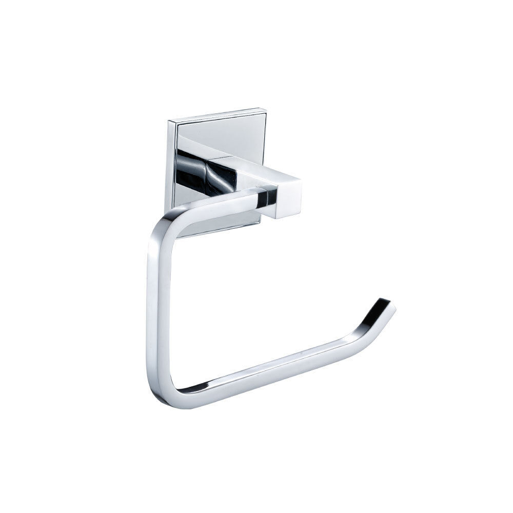Saturn Modern Designer Bathroom Chrome Toilet Roll Holder