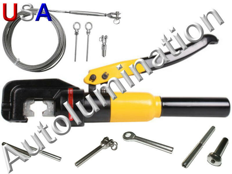 Steel Cable Swage : Stainless steel cable hand rail hydraulic crimper crimp