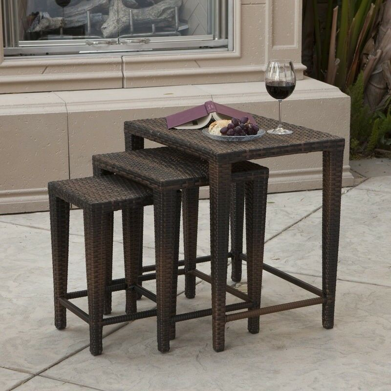 Outdoor Patio Furniture Set Of 3 Nested Wicker Side Tables. Plastic Patio Table And Chair Sets. Pavers For Outdoor Patio. Adding Onto A Concrete Slab Patio. Inexpensive Outdoor Lounge Chairs. Patio Garden Design Books. Under The Deck Patio Designs. Patio Lounge Chairs Black. Fortunoff Outdoor Patio Umbrellas