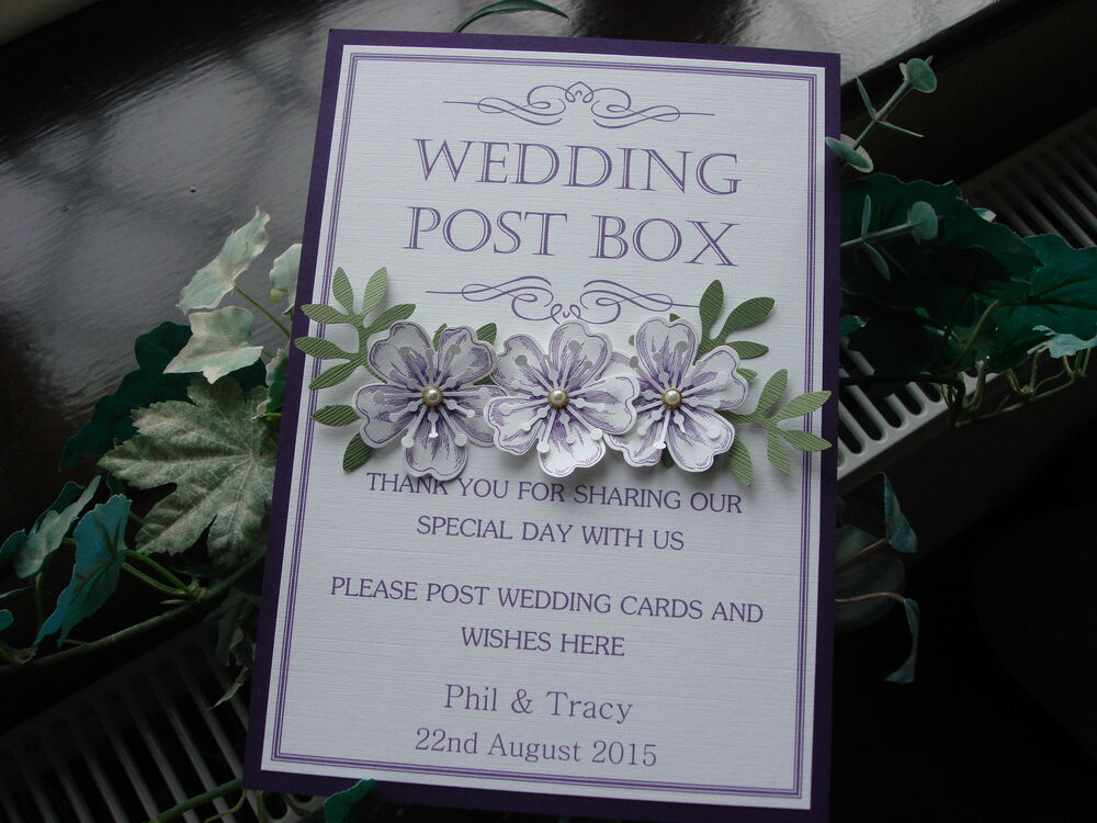 Wedding Gift Post Box: A Personalised Card For Wedding Post Box/Wishing Well