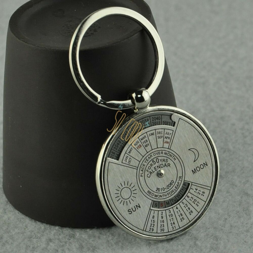 Year Calendar Keyring : Valentine s day gifts for lover keychain forever years