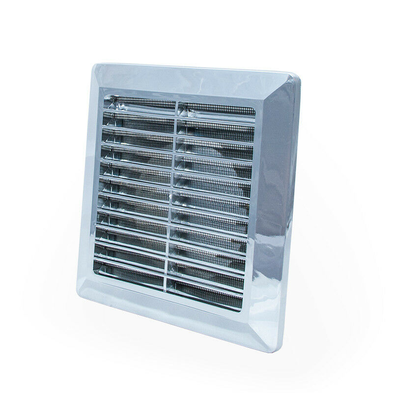 chrome air vent grille with 100mm 4 ducting spigot ventilation cover grid p33 ebay. Black Bedroom Furniture Sets. Home Design Ideas