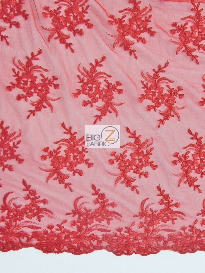 Gorgeous floral embroidery bridal dress lace fabric red wedding gown ebay