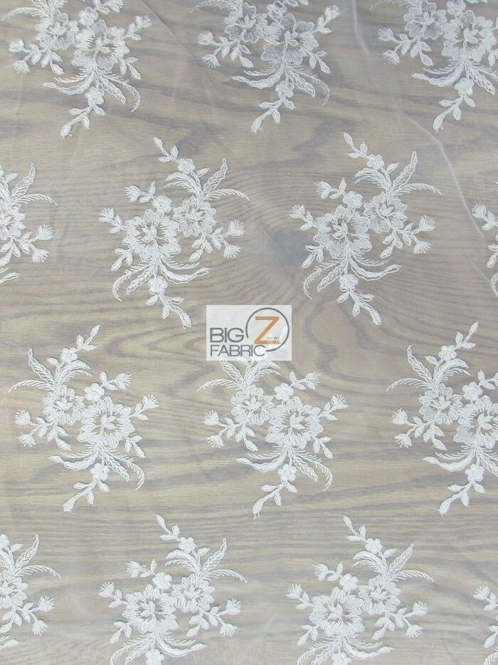 Gorgeous floral embroidery bridal dress lace fabric for Wedding dress lace fabric