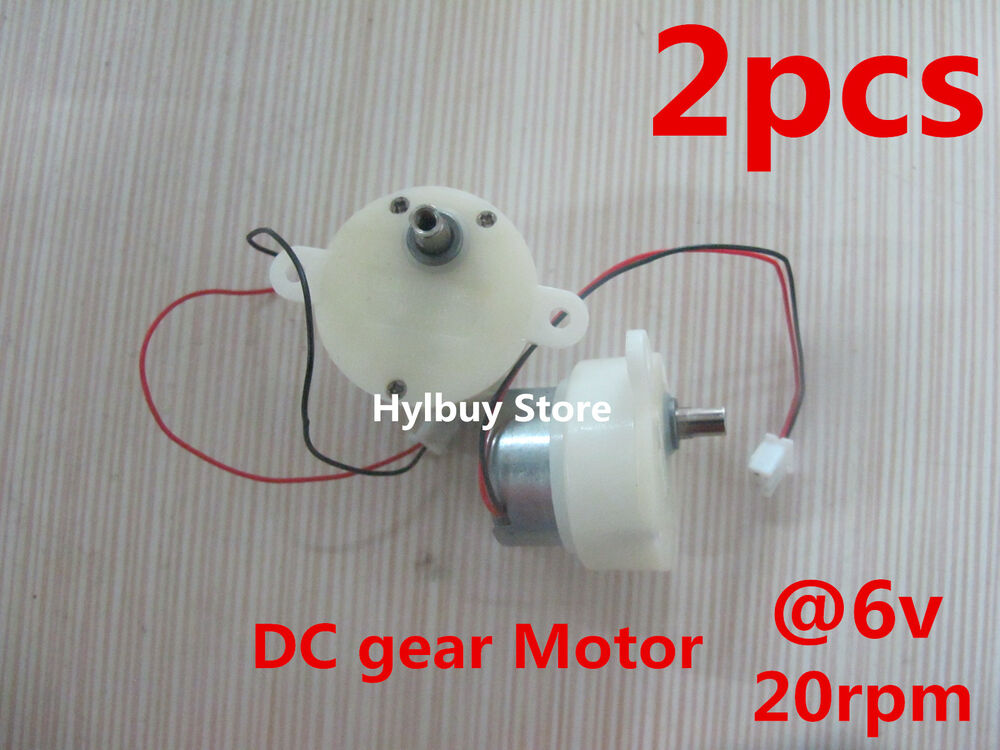 2pcs Small Dc Geared Motor 3v 6v 5v Worm Brush Gear Motor