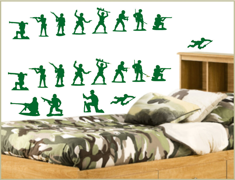 Toy Story Style 21 Peice Set Army Men Andy 39 S Bedroom Wall Art Sticker Dec