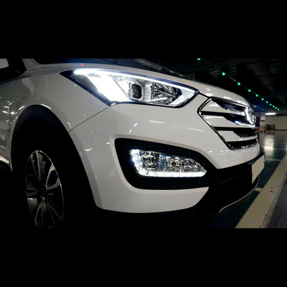 led daytime running light drl led lamp for hyundai santa. Black Bedroom Furniture Sets. Home Design Ideas