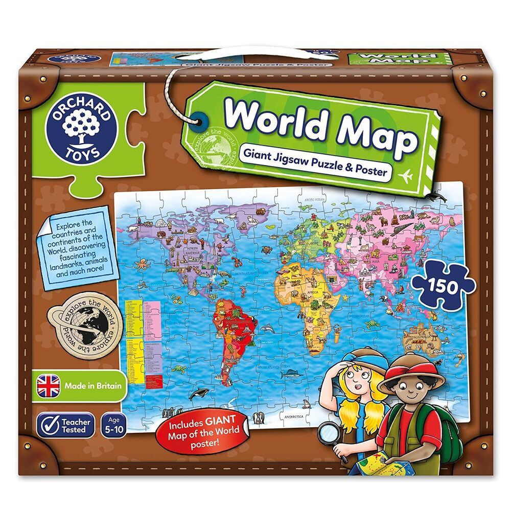 Orchard toys world map poster aurora map stanford campus map world map jigsaw puzzle and poster orchard toys educational games s l1000 221708709161 gumiabroncs Choice Image