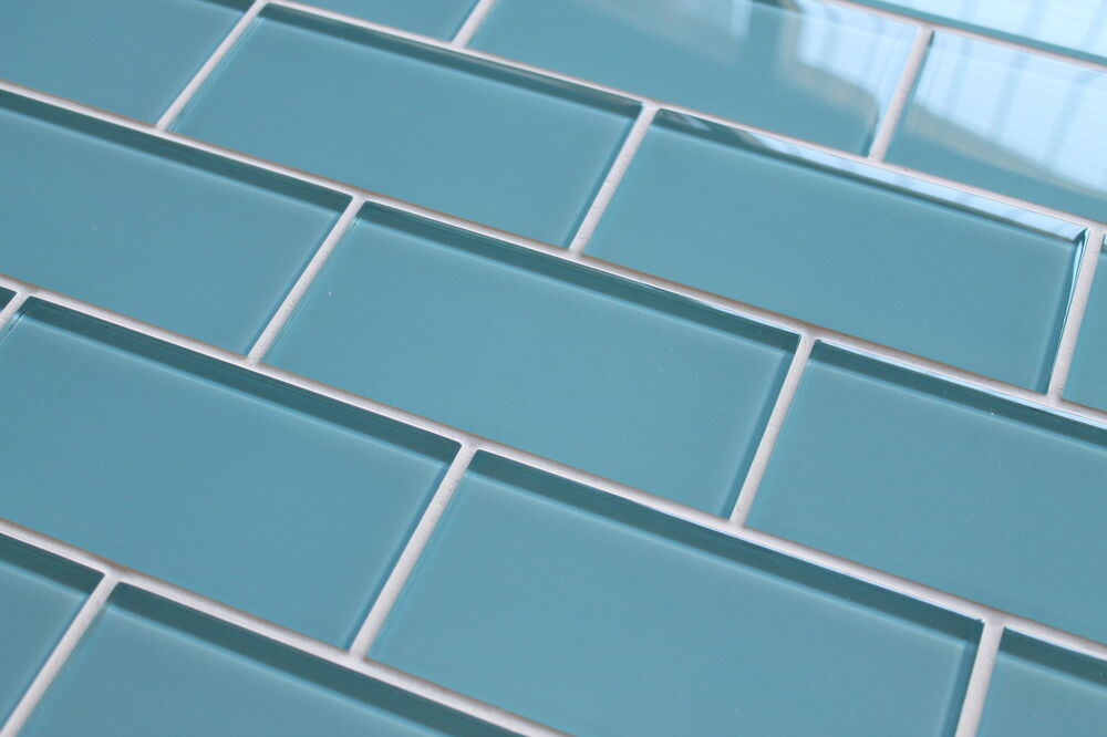 Infinity Blue 3x6 Glass Subway Tiles For Kitchen