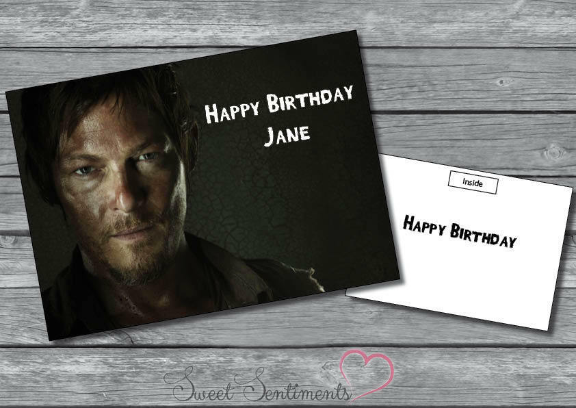 Personalised The Walking Dead Sexy Daryl Dixon Birthday Or Christmas