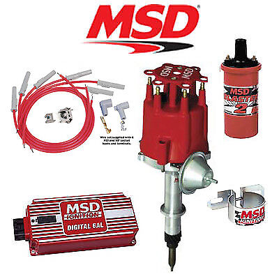 msd 9012 ignition kit - digital 6al/distributor/wires/coil ... chevy distributor with msd digital 6al msd wiring