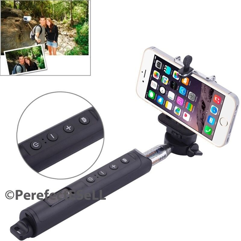 bluetooth shutter extendable handheld selfie stick monopod samsung iphone 7 6 6s ebay. Black Bedroom Furniture Sets. Home Design Ideas