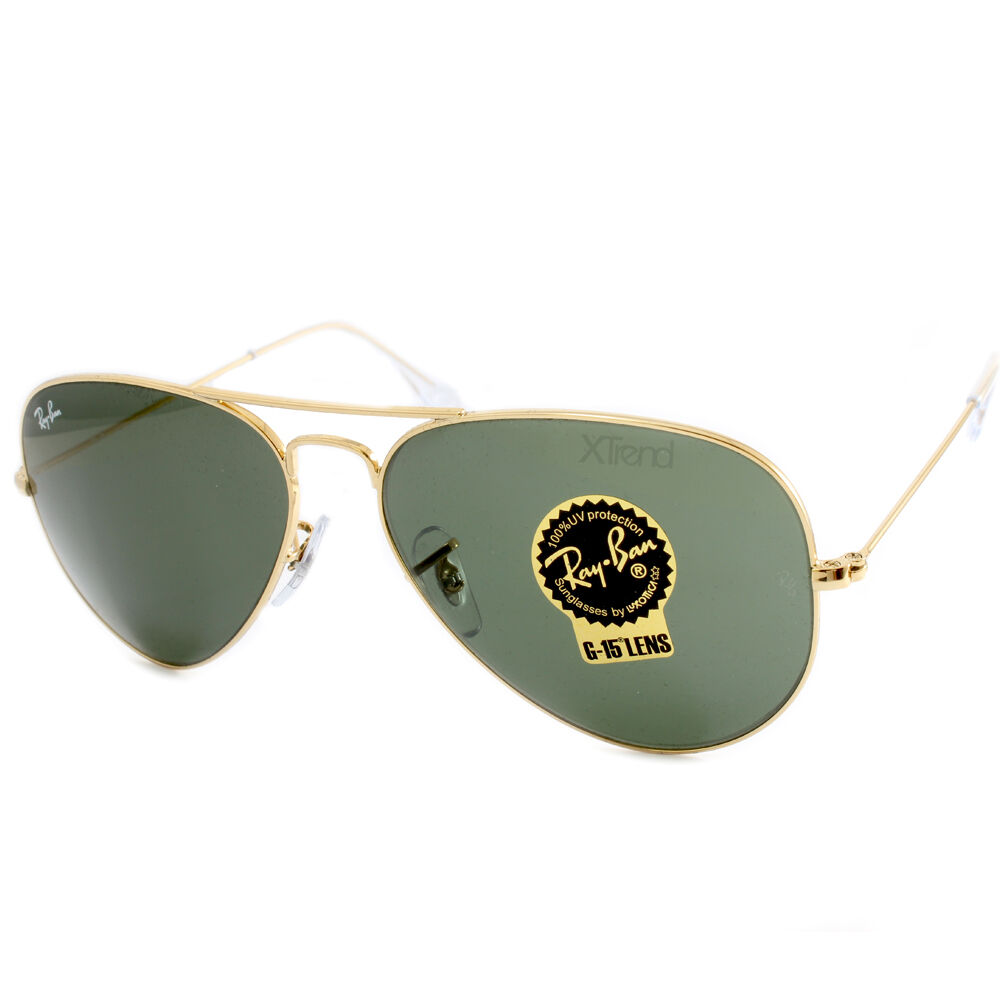 gold ray bans gold green