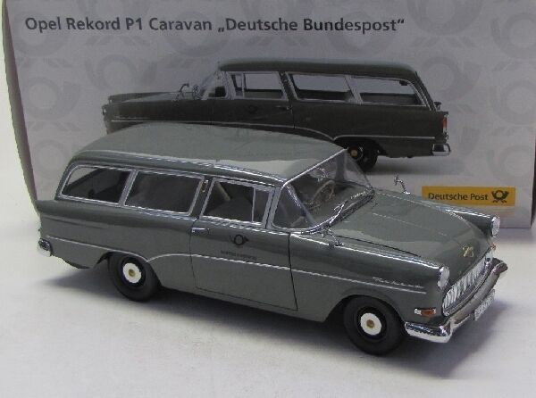 opel rekord p1 caravan deutsche bundespost 1957 1 18. Black Bedroom Furniture Sets. Home Design Ideas