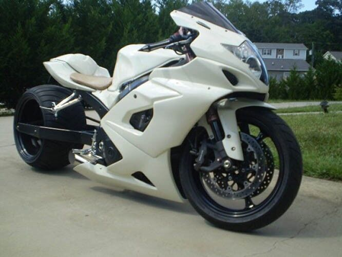 gloss white complete injection fairing kit for 2005 2006 suzuki gsxr gsx r 1000 ebay. Black Bedroom Furniture Sets. Home Design Ideas