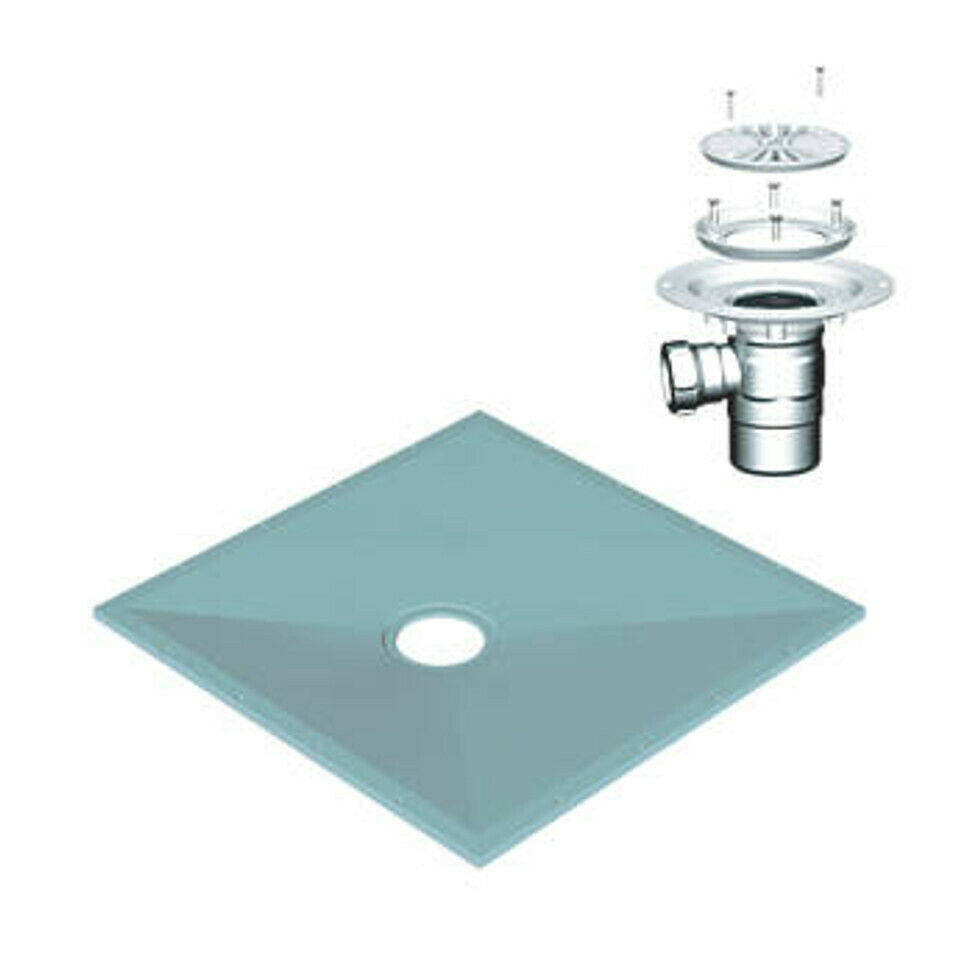 Wet room wetroom shower tray kit various sizes for vinyl for Wet room shower tray for vinyl