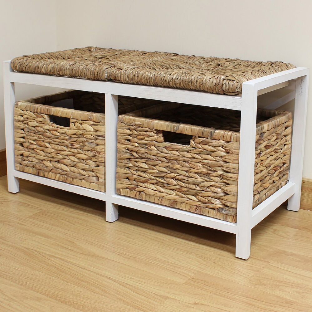 Benches With Storage Seating: Hartleys Farmhouse Bench/Seat & Storage Baskets Hallway