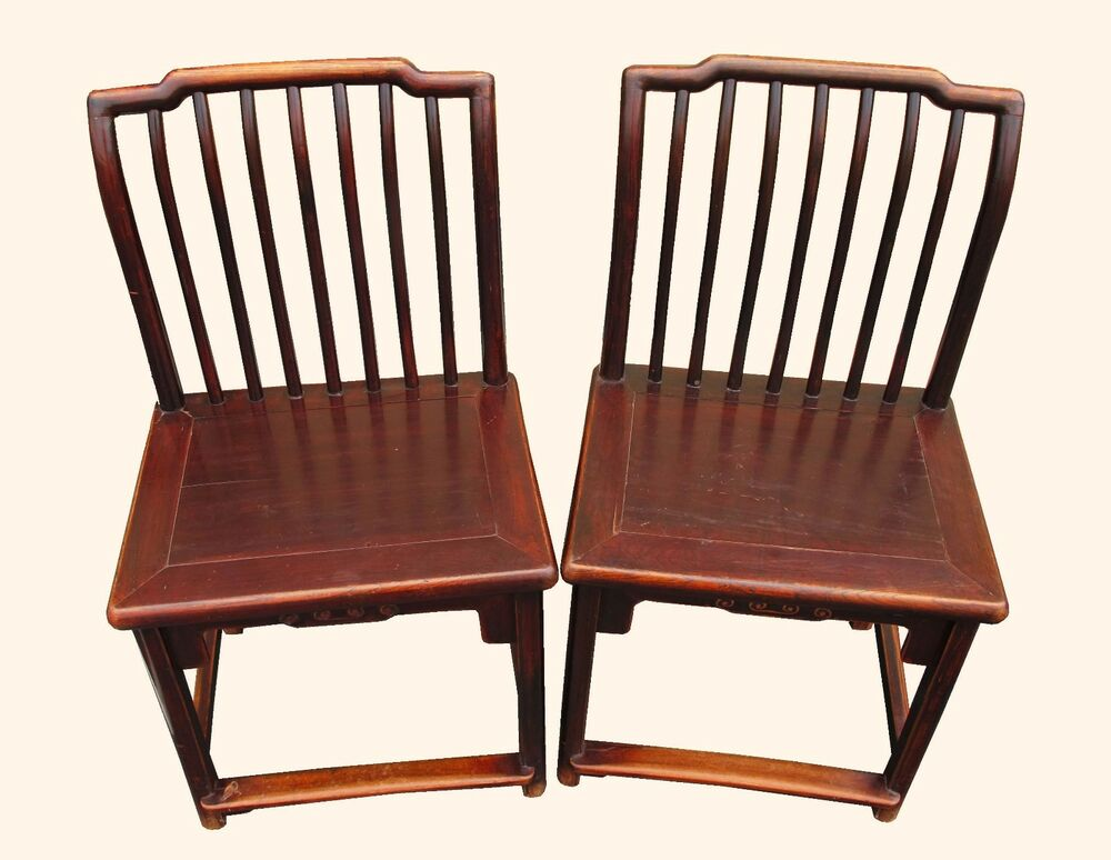 A pair chinese wood chair qing dynasty ebay
