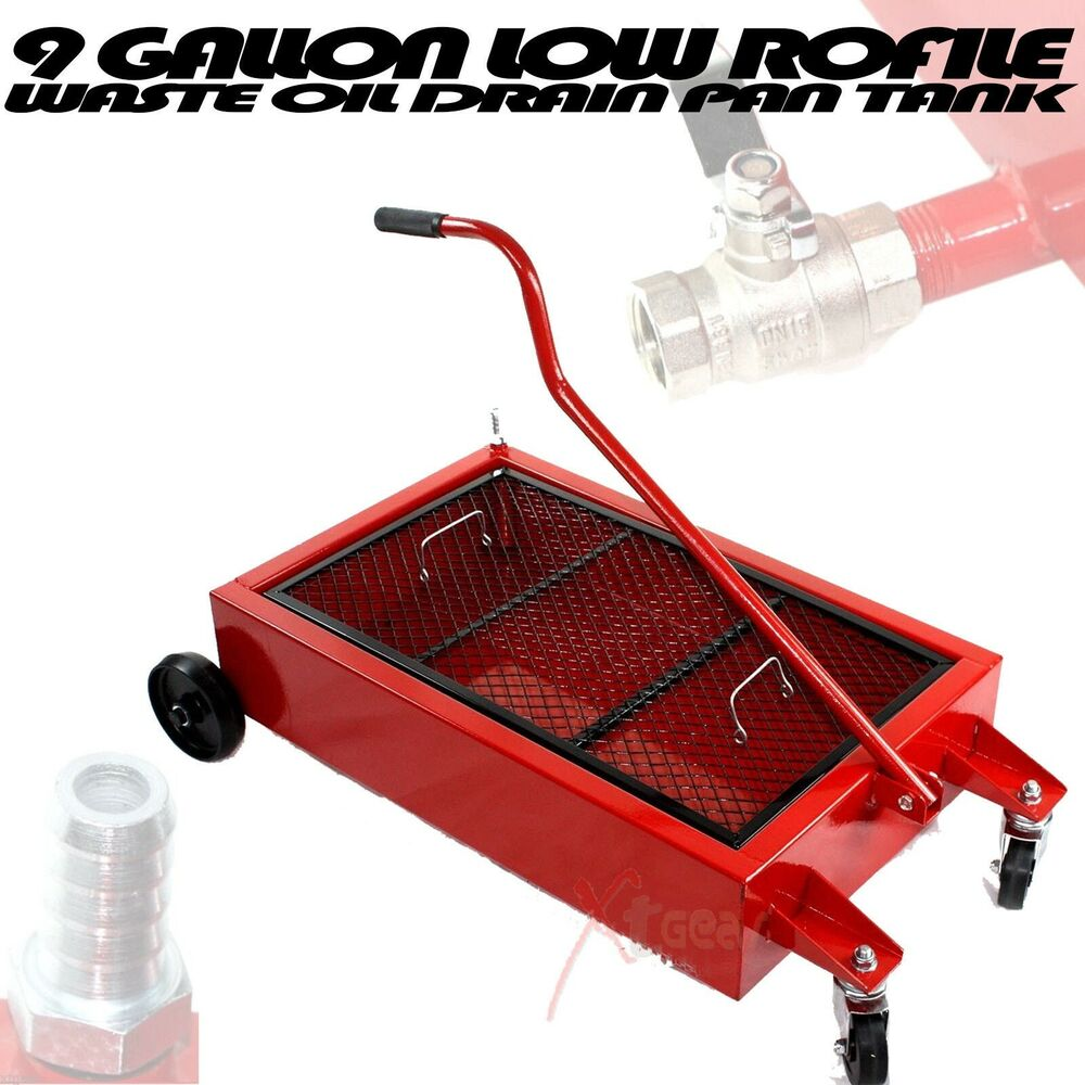 9 Gallon Low Profile Reservoir Oil Change Tank Waste Oil