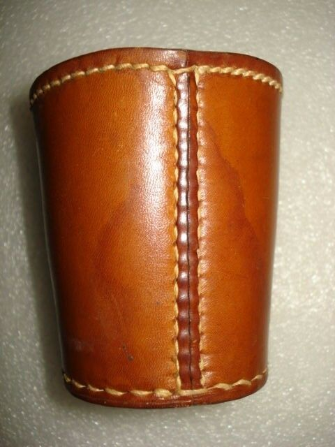 vintage handmade cow leather dice cup shakers cup hand