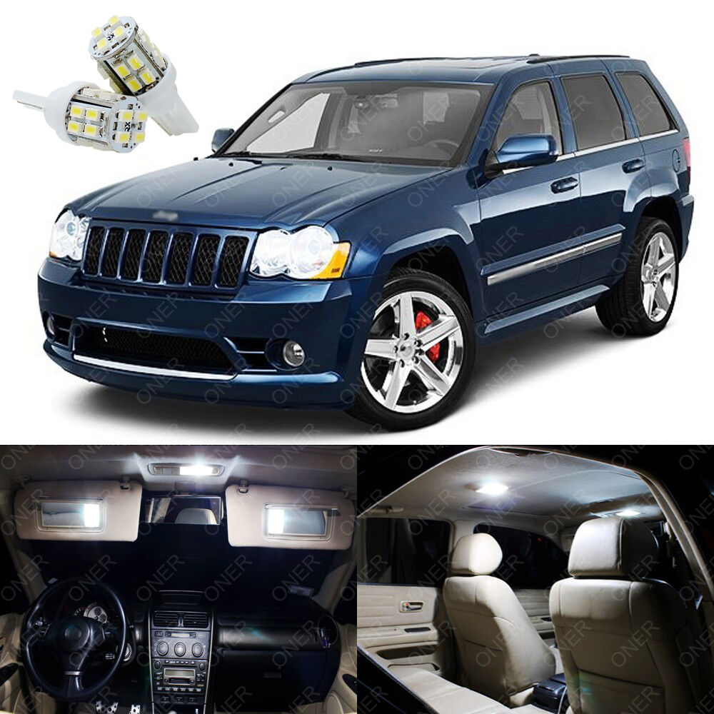 11 x xenon white led interior lights package for jeep - 2010 jeep grand cherokee interior ...