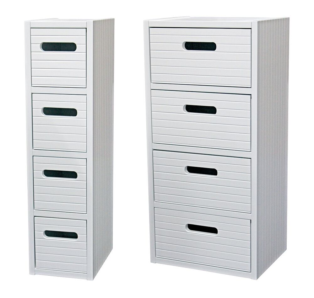 White Wooden Freestanding Bathroom Vanity Drawer Bedroom Storage Cabinet Unit Ebay