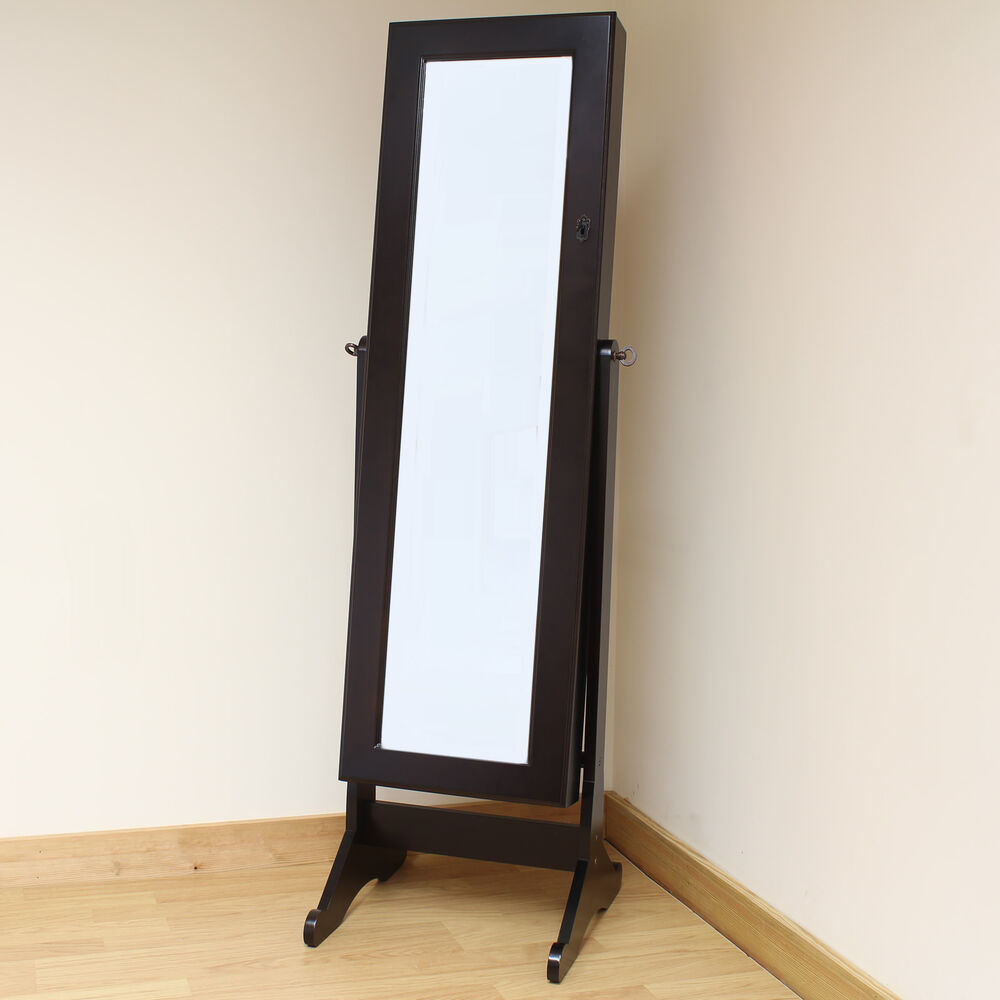 Tall Mirrors For Bedroom Hartleys Brown Full Length Floor Standing Mirror Jewellery Cabinet