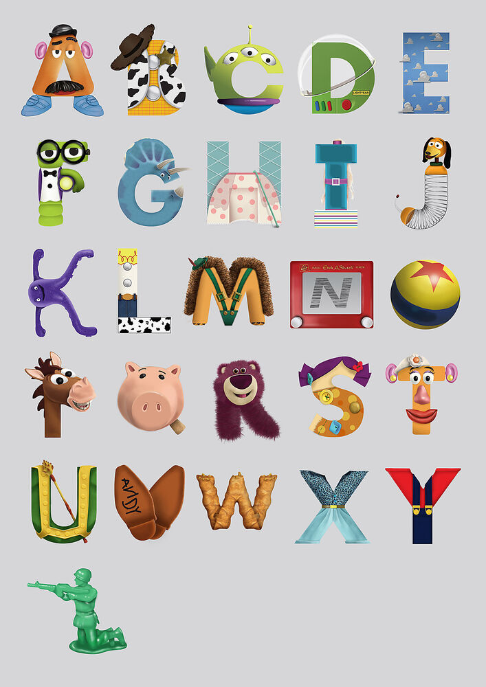Toy story alphabet abc tsa01 giant large big wall deco - Bathroom items that start with g ...